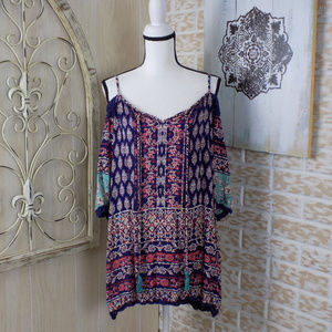 Angie Boho Flowy cold shoulder gorgeous dress